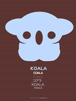 Blue Koala Multilingual Fine Art Print
