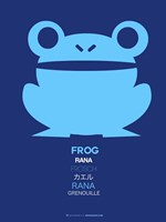 Blue Frog Multilingual Fine Art Print