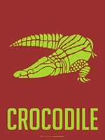 Crocodile Yellow Fine Art Print