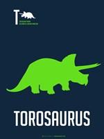 Green Dinosaur Fine Art Print