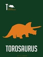Yellow Dinosaur Fine Art Print