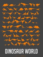 Dinosaur Orange Fine Art Print