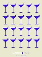 Martini Lover Blue Fine Art Print