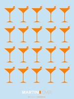 Martini Lover Orange Fine Art Print