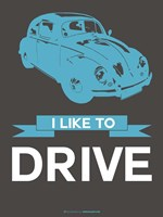 I Like to Drive Beetle 3 Fine Art Print