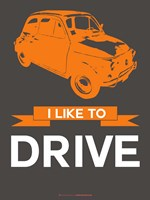 I Like to Drive Beetle 4 Fine Art Print