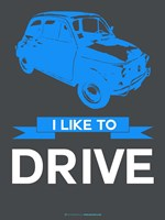 I Like to Drive Beetle 5 Fine Art Print