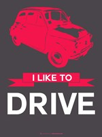 I Like to Drive Beetle 6 Fine Art Print