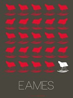 Eames Red Rocking Chair Fine Art Print