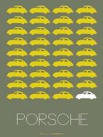 Porsche Yellow Fine Art Print