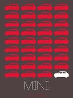 Red Mini Cooper Fine Art Print