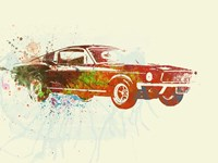 Ford Mustang Watercolor Fine Art Print