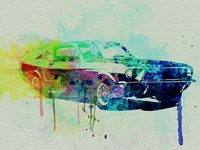 Ford Mustang Watercolor 2 Fine Art Print
