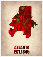 Atlanta Watercolor Map Fine Art Print