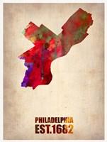 Philadelphia Watercolor Map Fine Art Print
