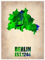 Berlin Watercolor Map Fine Art Print