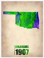 Oklahoma Watercolor Map Fine Art Print