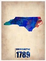 North Carolina Watercolor Map Fine Art Print