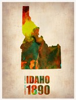 Idaho Watercolor Map Fine Art Print
