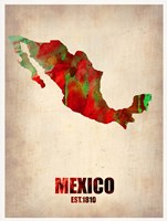 Mexico Watercolor Map Fine Art Print