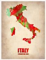 Italy Watercolor Map Fine Art Print