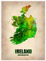 Ireland Watercolor Map Fine Art Print