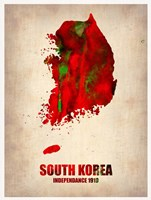 South Korea Watercolor Map Fine Art Print