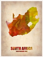 South African Map Fine Art Print