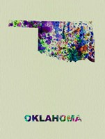 Oklahoma Color Splatter Map Fine Art Print