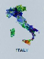 Italy Color Splatter Map Fine Art Print