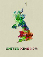 United Kingdom Color Splatter Map Fine Art Print