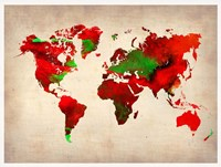 World Watercolor Map 4 Fine Art Print