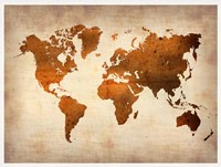 World  Map 7 Fine Art Print