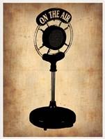 Vintage Radio Microphone Fine Art Print