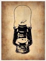 Vintage Lamp 3 Framed Print
