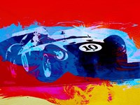 Maserati on the Race Track 1 Fine Art Print