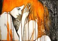 Girl with Orange Hair Fine Art Print