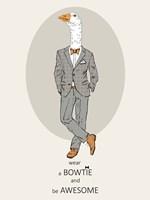 Goose in Pin Suit Fine Art Print