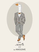 Goose in Pin Suit Fine Art Print