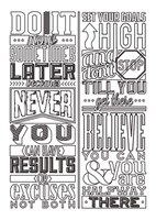Motivational Set White Fine Art Print