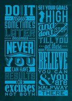 Motivation Set Blue Fine Art Print