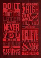 Motivation Set Red Fine Art Print