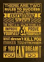 Success Set Yellow Fine Art Print
