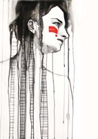Red Stripes Fine Art Print
