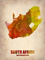 South Africa Watercolor Fine Art Print