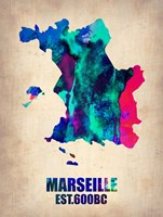Marseille Watercolor Fine Art Print