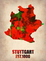 Stuttgart Watercolor Fine Art Print