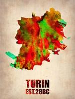 Turin Watercolor Fine Art Print