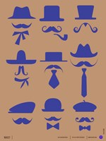 Hats and Mustaches 2 Fine Art Print