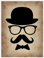 Hat Glasses and Mustache 1 Framed Print